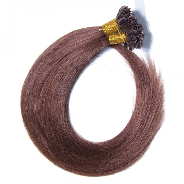Julia Indian Human Hair Extensions Pre Bonded U Tip Hair Extensions