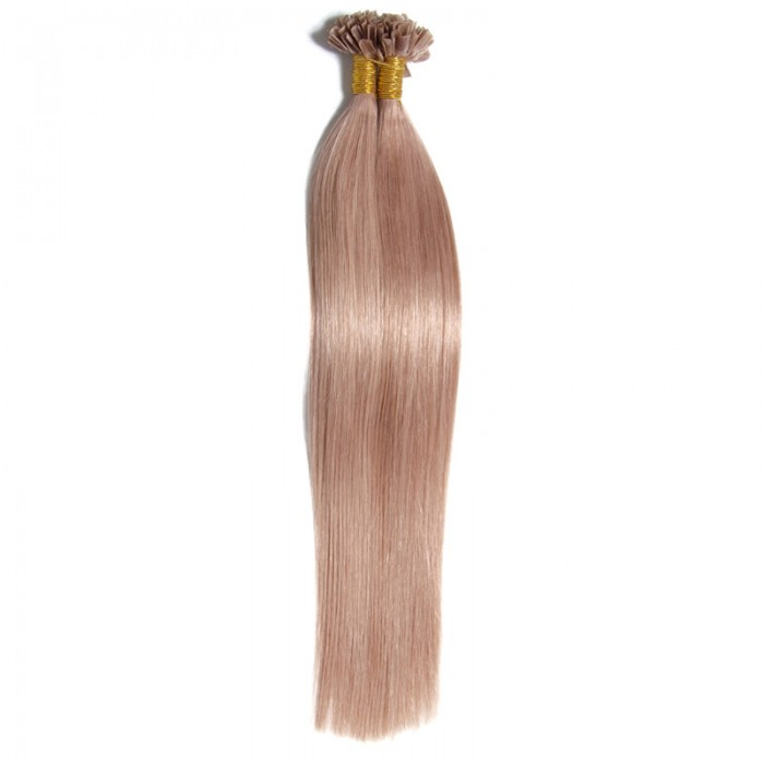 Julia Brazilian U Tip Fusion Human Hair Extensions Best Nail Hair Extension On Sale