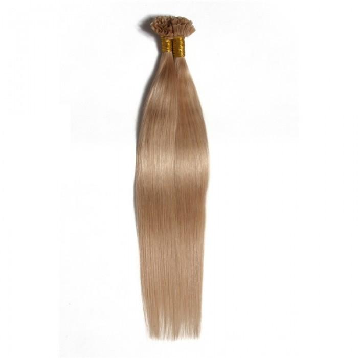 Julia U Tip Human Hair Extension 100g 18-24 Malaysian Virgin Hair Natural Keratin Fusion U Tip Hair Extension Cabelo Humano Tic Tac