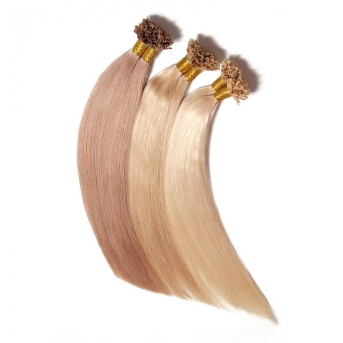 Julia Nail Hair Extensions Peruvian Straight Human Virgin Hair
