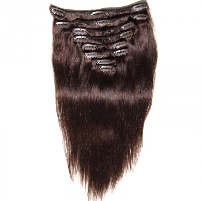 Julia Clip On Hair Extensions Full Head 8pcs Malaysian Virgin Hair
