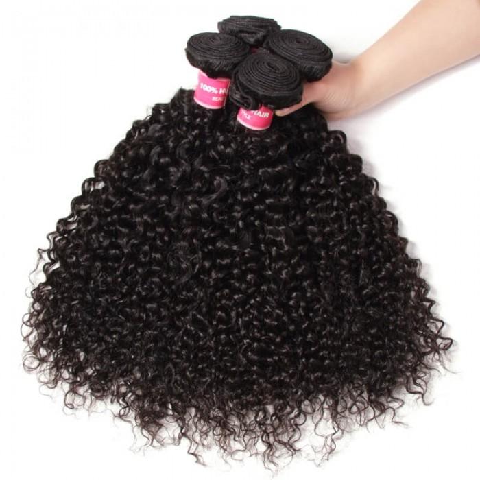 Julia Affordable Virgin Brazilian Curly Hair Human Curly Weave 4 Bundles Deals