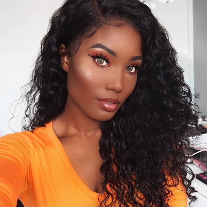 Julia Jerry Curly Hair With Lace Frontal