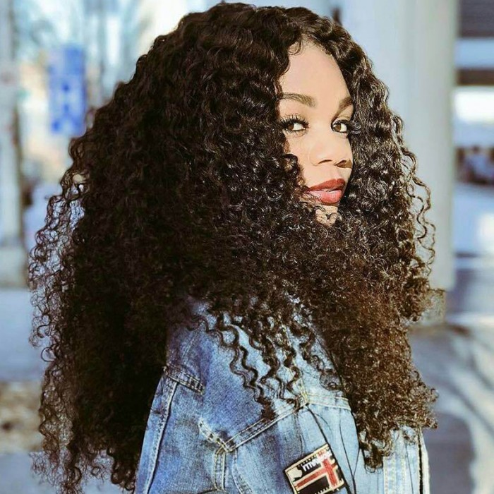 Julia Virgin Peruvian Deep Wave Hair 3Bundles Human Hair Weave Deals