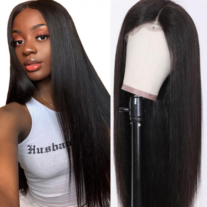 Julia Long Straight Human Hair Wig 150 Density Full Enough 13x6 Lace Front Wig Straight Hair 12 28 Inch