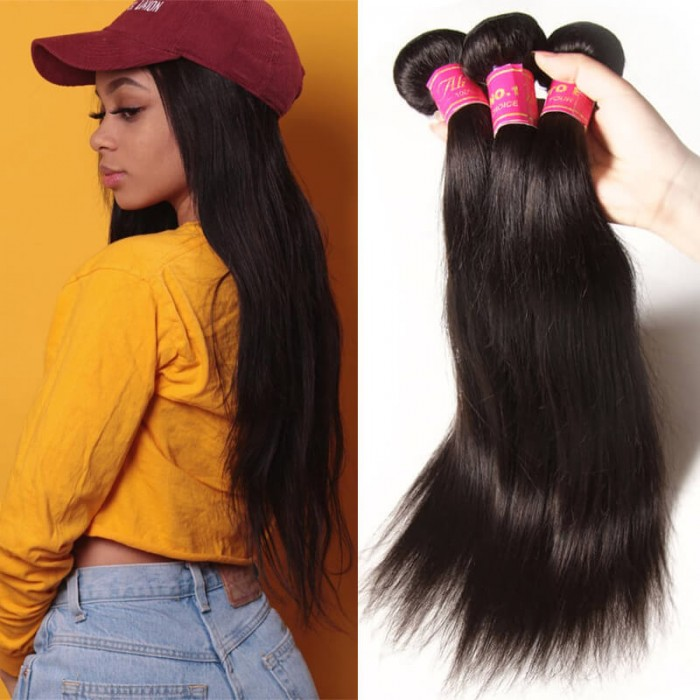 Julia Virgin Indian Straight Hair 3Bundles Best Real Indian Human Hair Weave Deals