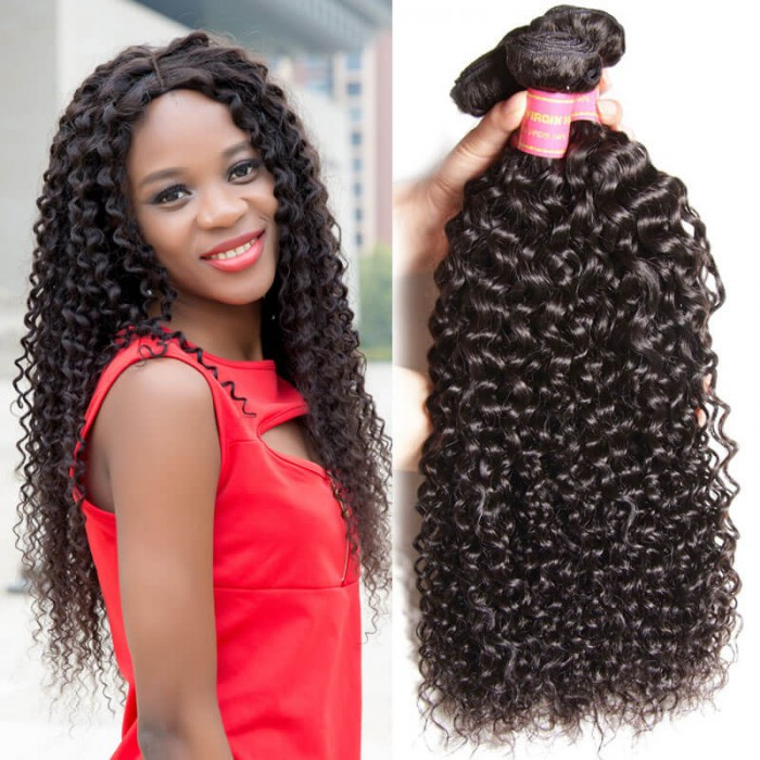 Julia Unprocessed Filipino Curly Human Hair Weave Bundles Best Culry