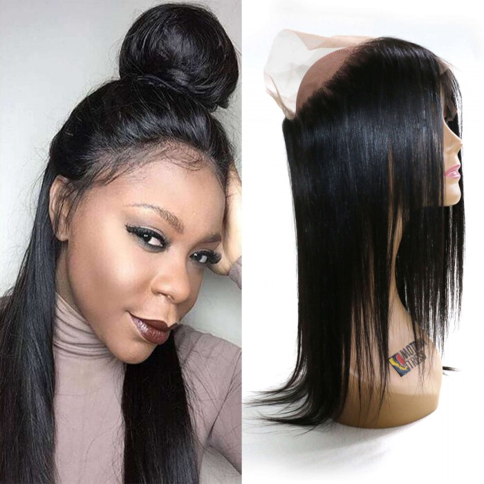 julia 360 lace frontal straight hair with natural hairline 100