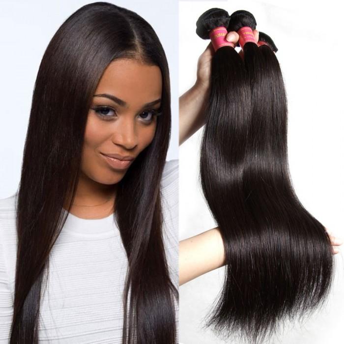 Julia Flash Sale Brazilian Straight Virgin Human Hair 3 Bundles Only 5 Lots