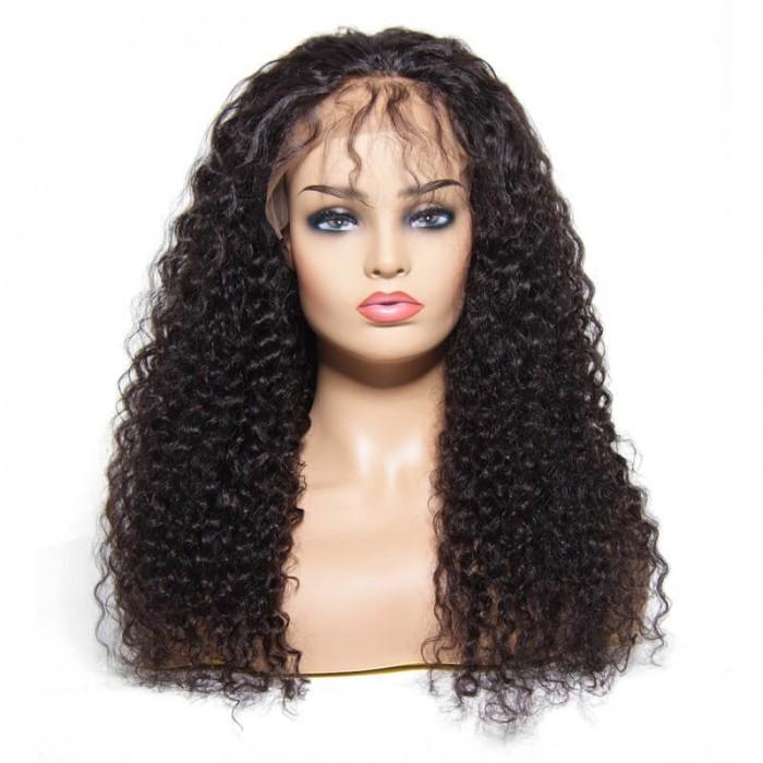 Julia 13x4 Curly Lace Front Brazilian Human Hair Wigs 150% Density Pre Plucked Best Brazilian Curly Hair Wigs