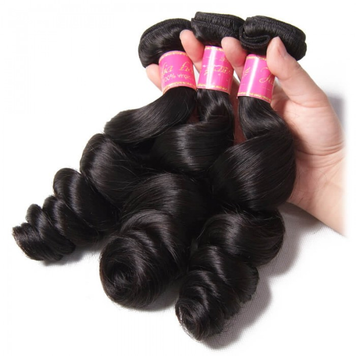 Julia Malaysian Loose Wave Human Virgin Hair 3 Bundle Deals Unprocessed Best Malaysian Hair Extensions