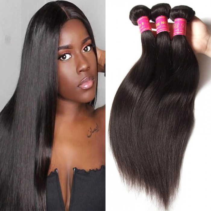 Julia Virgin Malaysian Straight Hair 4 Bundles Quality Malaysian Straight Human Hair Extensions