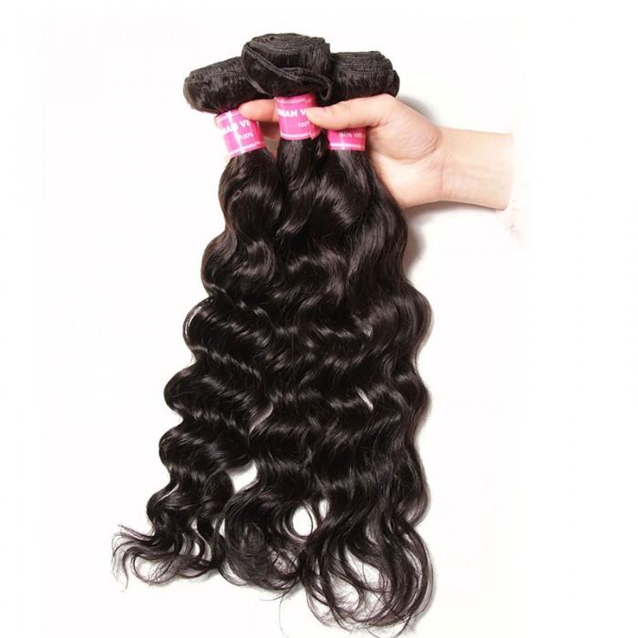 Julia Virgin Indian Natural Wave Hair 3 Bundles Human Indian Hair Weave