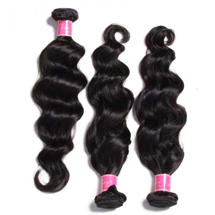 Julia New Arrival Malaysian Natural Wave Hair Weaving 3pcs Natural color Malaysian Remy Hair Weave