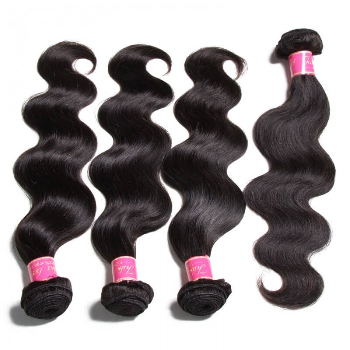Unprocessed Julia Virgin Body Wave Malaysian Hair Bundles 4pcs/pack Human Weave Deals