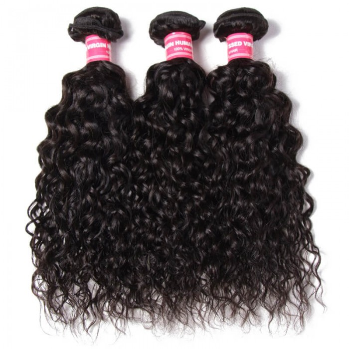 Julia Brazilian Water Wave Bundles 3pcs/lot Best Wavy Human Hair Weave