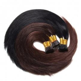 Julia Indian Straight I Tip Human Hair Extensions Fusion Hair Extensions For Short Hair