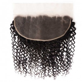 Julia Jerry Curly Virgin Hair 13x6 Lace Frontal Virgin Frontal Piece Full Lace Frontal