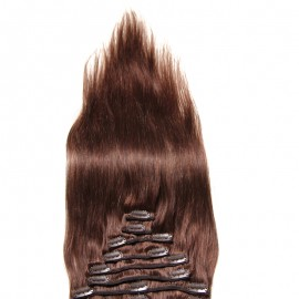 Julia Indian Straight 100% Virgin Remy Hair  Clip In  Human Best Hair Extensions