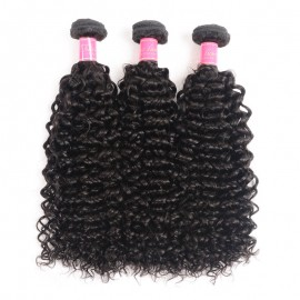Julia 2 Pieces Of Curly Hair Weaves With Lace Closure Natural Color Customized Curly Lace Closure Wigs