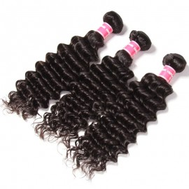 Julia Unprocessed Virgin 3pcs/Lot Malaysian Deep Wave Hair Bundles Malaysian Human Hair Weaving