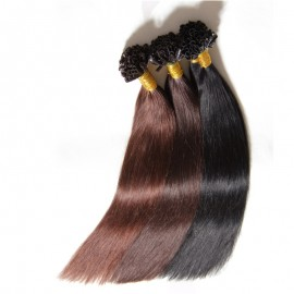 Julia Best U Tip Hair Extension Brazilian Straight Nail Hair Extension For Sale