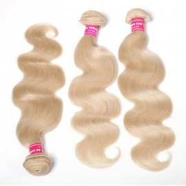 Julia Hair 613 Color Human Hair Bundles 3Pcs/Pack Brazilian Body Wave Hair Best Blond Human Hair Weaves
