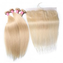613 Color Straight Hair Bundles With Frontal
