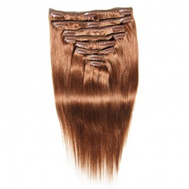 Julia Clip In  Brazilian Straight Human Virgin Hair Extensions