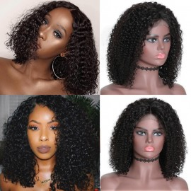 Bob Curly Human Hair Lace Front Wig