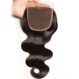 Julia Virgin Body Wave Hair Closure Three part Middle Part and Free Part