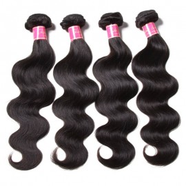 Julia Remy Virgin Indian Body Wave Hair 4pcs/pack Human Extensions Natural Color