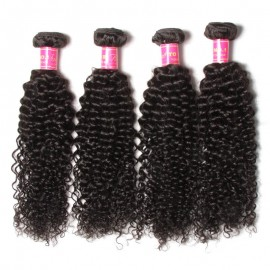 Julia Cheap Virgin Curly Ear To Ear Lace Frontal With 4Pcs Virgin Brazilian Curly Weave Bundles