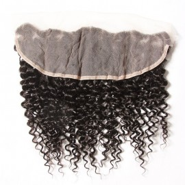 Julia 4 Bundles Curly Human Hair Weaves With 13x4 Ear To Ear Lace Frontal