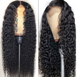 Julia 10A Quality Virgin Human Hair Wig 150% 180% Density Best Lace Front Curly Wig Online 13x4 4x4 For Sale