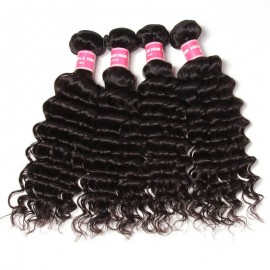 Julia Hot Selling Malaysian Deep Wave Virgin Hair Bundles 4pcs Deep Human Hair Weave