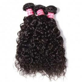 Julia 1 Piece Of Water Wave Hair Weaves 100% Human Hair Wavy Bundles For Sale