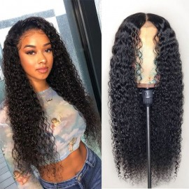 Julia 13x4 Curly Lace Front Brazilian Human Hair Wigs 150% Density Pre Plucked Best Brazilian Curly Hair Wigs