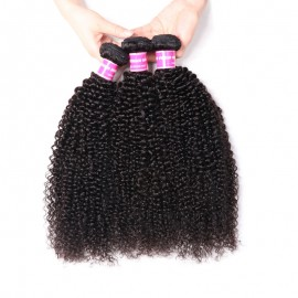 Julia 3 Pieces Of Brazilian Kinky Curly Hair Bundles 100% Unprocessed Brazilian Real Hair