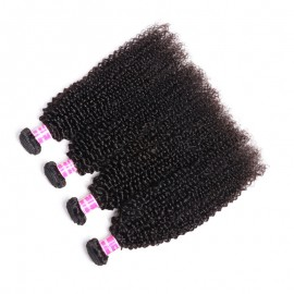 Julia 4 Bundle Deals Kinky Curly Human Hair Extension Natural Black Kinky Curly Human Hair For Weaves