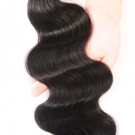 Julia 2 Bundles Of Body Wave Hair Weaves With 13x4 Lace Frontal Customizable 13x4 Lace Front Wig With Baby Hair
