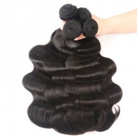 Julia Hair 4Pcs/pack Peruvian Body Wave Hair Bundles Deals Virgin Human Hair Weave