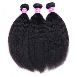 Julia Kinky Straight Human Hair Weaves 3Pcs/Pack Quality Brazilian Kinky Straight Hair Online