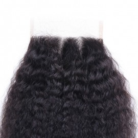 Julia 4x4 Lace Closure Best Kinky Straight Real Human Hair
