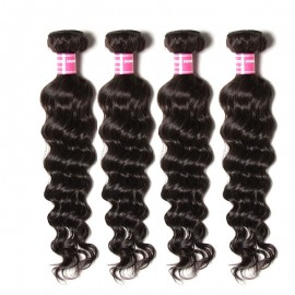 Julia Virgin Human 4Pcs/lot Brazilian Natural Wave Hair Bundles Best Natural Wavy Brazilian Hair Weave