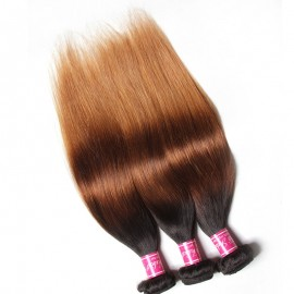 Julia 3Pcs/Lot Three Tone Best Ombre Straight Hair Human Weave For Sale
