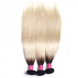 Julia Hair 1B/613 Ombre Straight Bundles 100% Brazilian Human Hair 3 Pcs/Pack Cheap Ombre Straight Hair Weaves