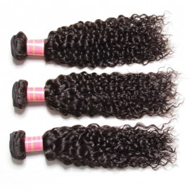 Julia 3 Bundles Virgin Curly Peruvian Hair Weave Human Hair Bundle Deals