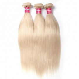 Julia Hair 613 Color Straight Hair Weaves 3 Bundles Blond Brazilian Straight Bundles Human Hair