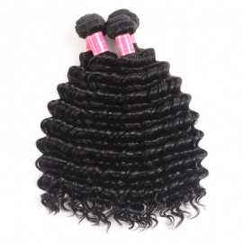 Julia Human Unprocessed Virgin Indian Deep Wave Hair 4 Bundles Remy Hair Weave